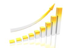 Diagram of business success Royalty Free Stock Images