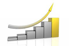 Diagram of business success Stock Photography
