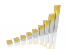 Diagram of business success royalty free stock photography