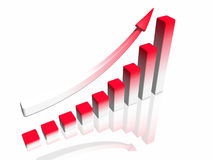 Diagram of business success with arrow Stock Photo