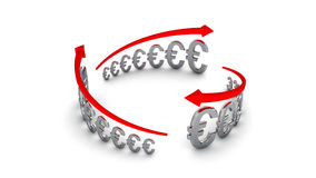 Diagram of business success, silver euros circle Royalty Free Stock Photo