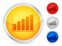 Diagram button Royalty Free Stock Images