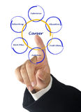 Diagram of career success Royalty Free Stock Photo