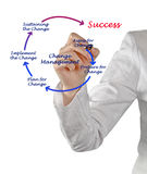 Diagram of change management Stock Image