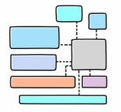 Diagram, chart, colour, frame, text, blank, white background. Stock Photos
