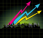 Diagram city Stock Image