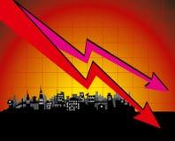 Diagram city Stock Photography
