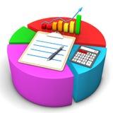 Diagram Clipboard Calculator Royalty Free Stock Photography