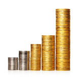 Diagram coins stack Royalty Free Stock Images