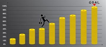 diagram con la carta de punto y coloque para estadístico libre illustration