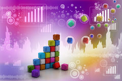 The diagram consisting of several cubes Stock Image