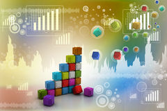 The diagram consisting of several cubes Royalty Free Stock Photo