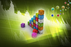 The diagram consisting of several cubes Stock Photography