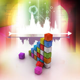 The diagram consisting of several cubes Stock Images