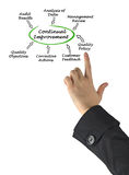 Diagram of Continual Improvement Royalty Free Stock Photography