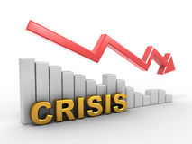 Diagram. Crisis. On white background. 3d Stock Photos