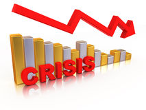Diagram. Crisis Stock Photography