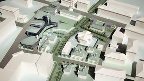 diagram 3D av den stads- miljön fjärdedel Royaltyfria Bilder