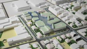 diagram 3D av den stads- miljön fjärdedel royaltyfri bild