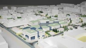 diagram 3D av den stads- miljön fjärdedel Arkivbilder