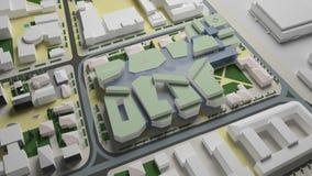 diagram 3D av den stads- miljön fjärdedel Arkivfoton