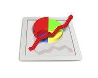 diagram 3D på minnestavlan Arkivfoto