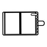 diagram dagordning med fliksymbolen Arkivbilder