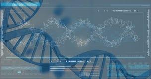 diagram 3DHelix av DNA:t Arkivbilder