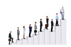 diagram drużyn biznesowi ludzie Obraz Stock