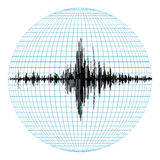 Diagram of the earthquake Royalty Free Stock Photos