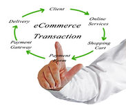 Diagram of ecommerce. Presenting Diagram of ecommerce transaction Royalty Free Stock Photo