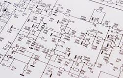 Diagram elektronika obwodu drukowana deska zdjęcia stock