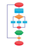 Diagram elements. Vector sample of diagram with four various elements Royalty Free Stock Photo