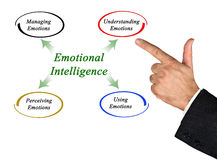 Diagram of emotional intelligence royalty free stock photography