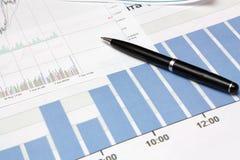 Diagram en pen Stock Fotografie