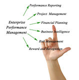 Diagram of Enterprise Performance Management Royalty Free Stock Photos