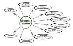 Diagram of Enterprise Software. Important components of Enterprise Software Royalty Free Stock Image