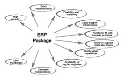 Diagram of  ERP Package Royalty Free Stock Photography