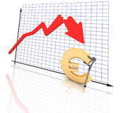 Diagram and euro Stock Photo