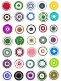diagram för 35 cirkelelement Arkivfoton