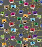 Diagram för affär socialt folk Arkivfoto