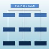 Diagram för affärsplan Arkivbild