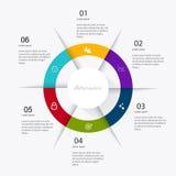 Diagram för cirkeldiagram för stång för prick för beståndsdelar för marknad för affärsdata och gr Arkivfoto
