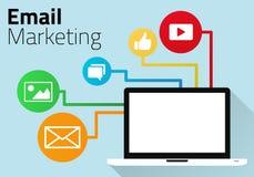 Diagram för Emailmarknadsföringsbegrepp Vektor Illustrationer