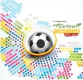 Diagram för fotbollhändelseaffisch royaltyfri illustrationer