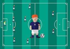 Diagram för fotbollkaptenlägenhet Arkivbild