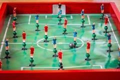 Diagram för fotbolltabletoplek Arkivfoto