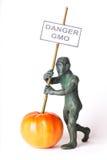 Diagram för GMO begreppsfara av en man Royaltyfria Foton