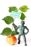 Diagram för GMO begreppsfara av en man Royaltyfri Foto