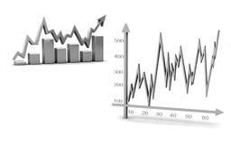 diagram för graf för affärsdiagramdiagram Arkivfoto